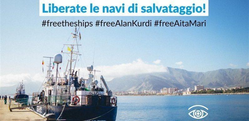 Appello per l'immediato dissequestro dell'Alan Kurdi e Aita Mari