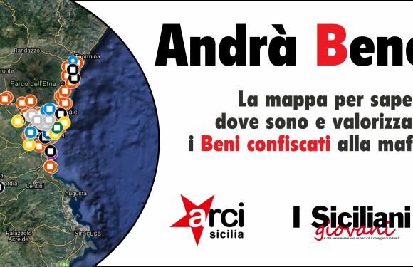 La mappa dei Beni confiscati alla mafia