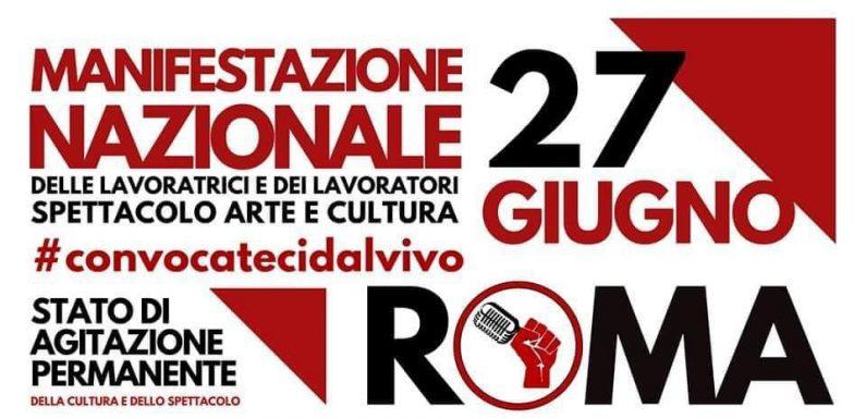 Manifestazione nazionale dello spettacolo oggi in piazza a Roma