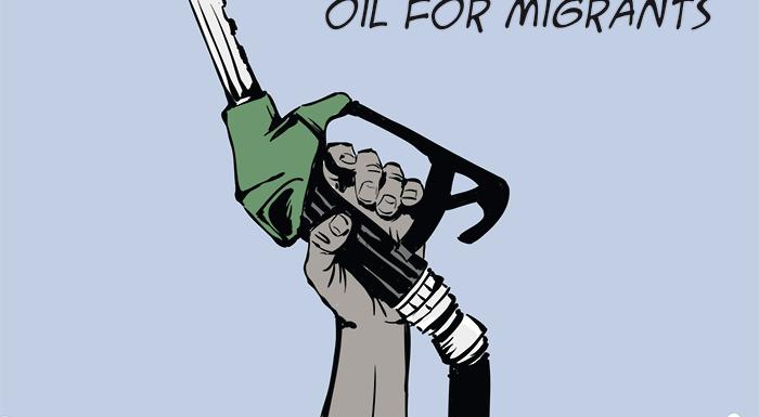 Oil for migrants