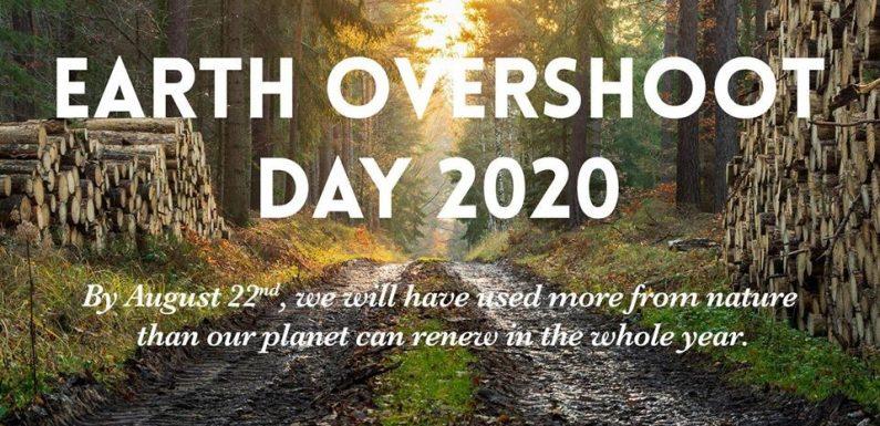 22 agosto è Overshoot Day!