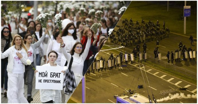 Bielorussia: protestano le donne vestite di bianco