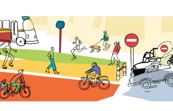 Immagina una città senza auto