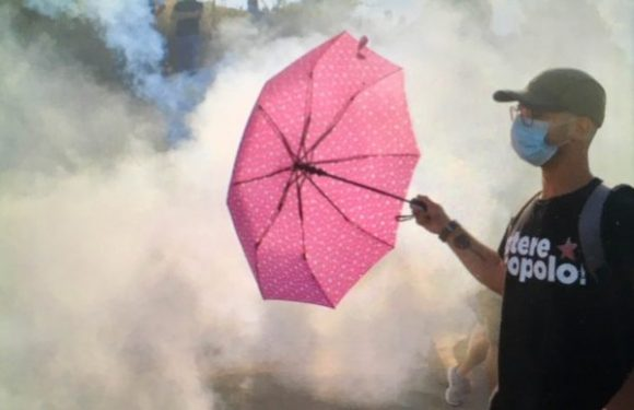 Le armi chimiche delle forze dell'ordine contro i NO MUOS di Niscemi