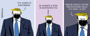 Taglio alto/Trump in maschera
