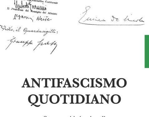 """""""Antifascismo quotidiano"""": nelle librerie il volume curato da Carlo Smuraglia"""