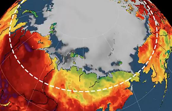 Numerosi incendi e un'ondata record di calore stanno provocando uno scongelamento senza precedenti dei ghiacciai dell'Artico