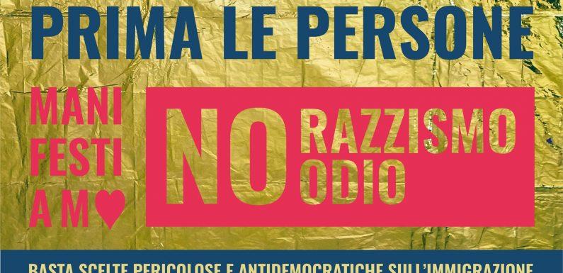 """""""Prima le persone"""": a Udine contro l'odio, il razzismo e i respingimenti dei migranti"""