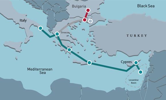 Gasdotto esplosivo nel Mediterraneo