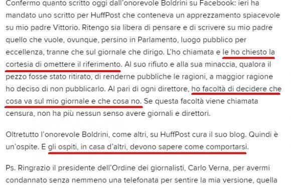Feltri e Boldrini: i diritti e i doveri del direttore
