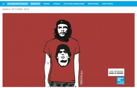 Maradona in France24