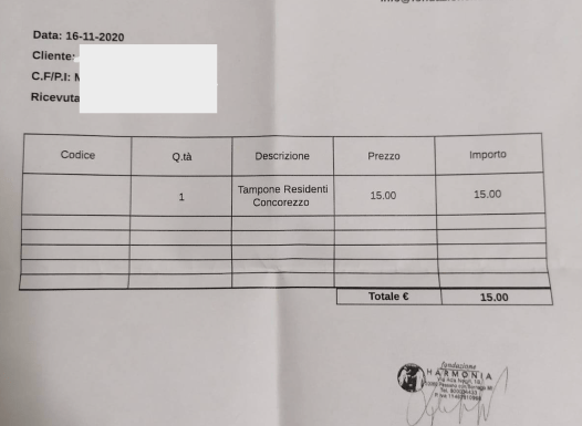 Tamponi rapidi e interessi dei privati in Lombardia: il caso della Fondazione Harmonia