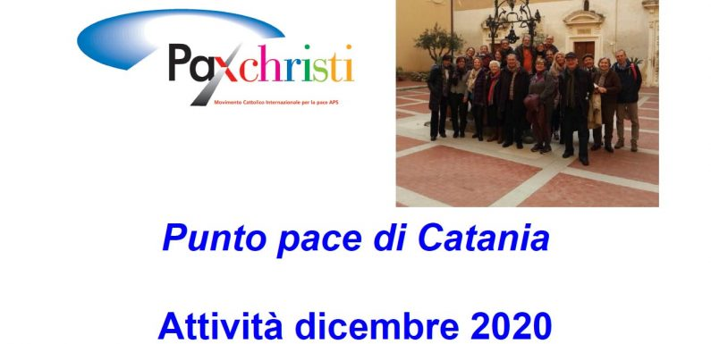Attività del Punto pace di Catania, dicembre 2020