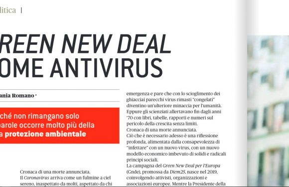 Il Green New Deal come antivirus