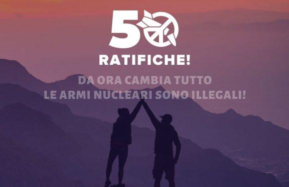 Il Trattato di proibizione delle armi nucleari entra in vigore: gli ordigni nucleari sono illegali