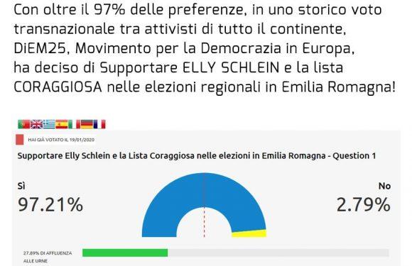 Missione compiuta. DiEM25 festeggia la vittoria su Salvini in Emilia Romagna.