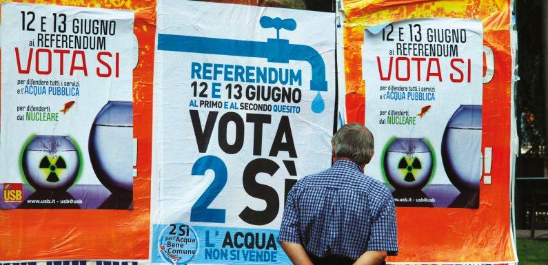 Recovery plan: a dieci anni dal referendum, l'acqua non è ancora un bene comune
