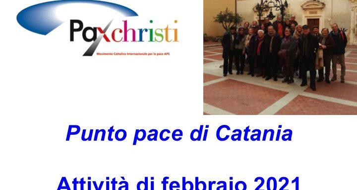 Attività del Punto pace di Catania, gennaio-febbraio 2021