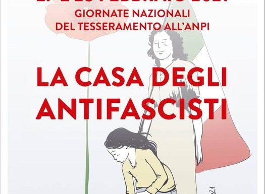 """""""LA CASA DEGLI ANTIFASCISTI"""": 27 e 28 febbraio Giornate nazionali del tesseramento all'ANPI"""