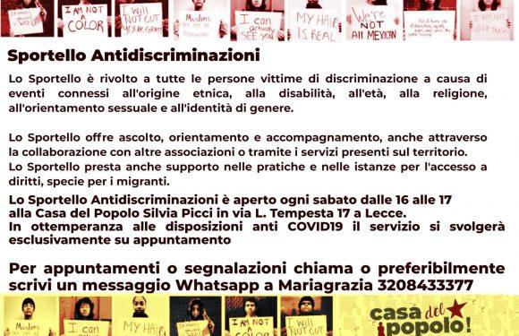 [LECCE] Casa del Popolo: apre sportello antidiscriminazioni!
