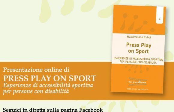 """Lunedì 22 marzo la prima presentazione di """"Press Play on Sport"""" in diretta Facebook"""