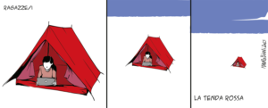 Taglio alto/ragazze/i La tenda rossa