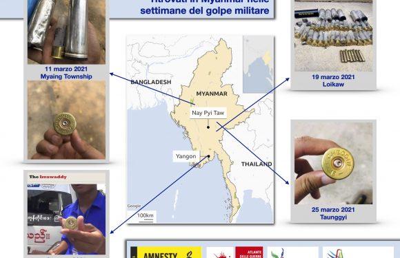 Bossoli italiani in Myanmar: la società civile chiede chiarimenti alla Cheddite srl