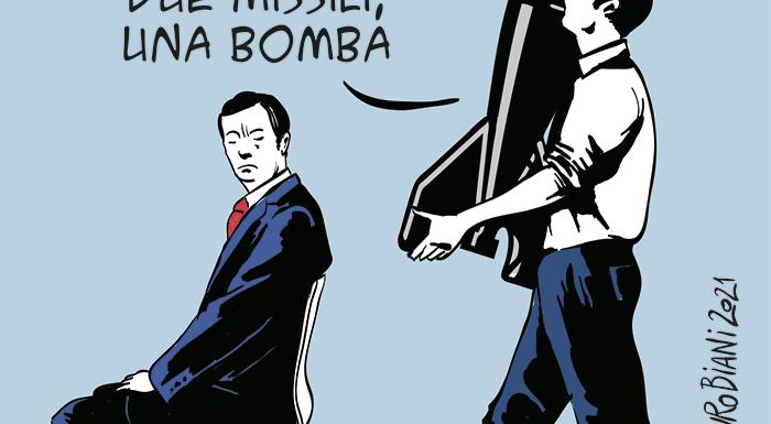 Se facciamo gli impertinenti, i cattivi non ci comprano più le bombe. Attenti.