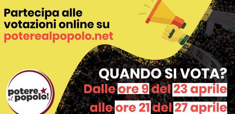 STATUTO E DOCUMENTO POLITICO: GLI ADERENTI DI POTERE AL POPOLO AL VOTO!
