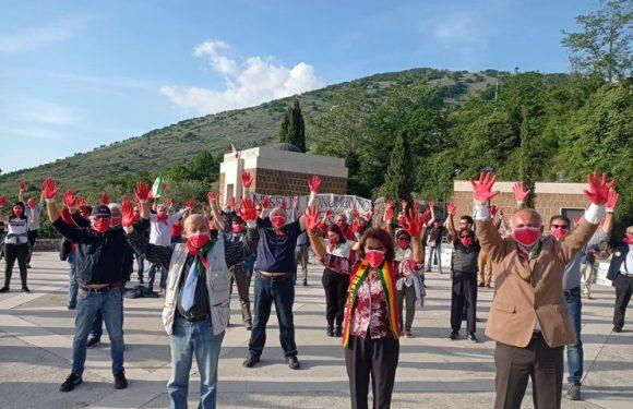 """Flash mob dell'ANPI ad Affile, Pagliarulo: """"Il monumento al boia Rodolfo Graziani è un' ignominia!"""""""