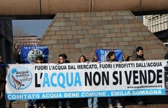 L'acqua non si vende! L'appello del Comitato Acqua Bene Comune per rendere pubblico il servizio idrico