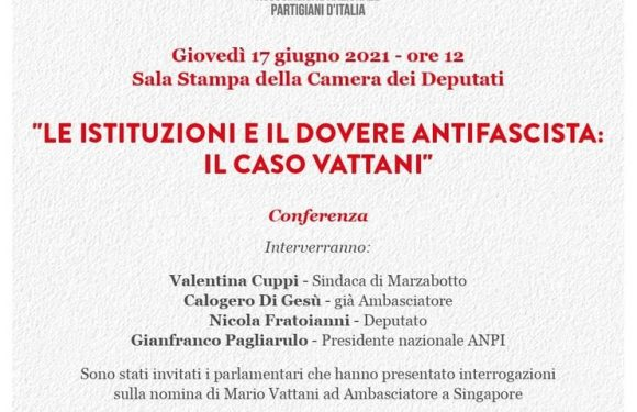 """""""Le Istituzioni e il dovere antifascista: il caso Vattani"""""""