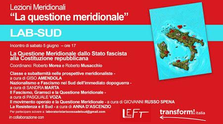 LEZIONI MERIDIONALI – Seminari online sul Mezzogiorno d'Italia, promossi dal Laboratorio per il Sud – Incontro di sabato 5 giugno