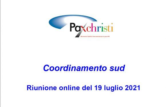 Coordinamento sud 19 luglio 2021