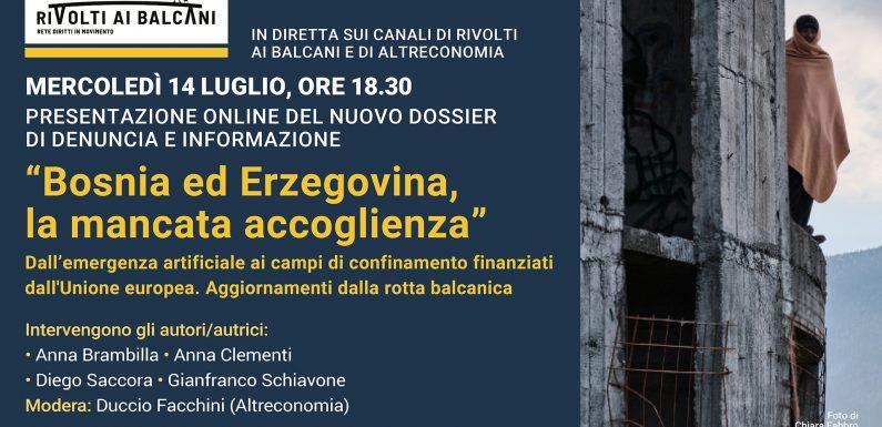 Il report di RiVolti ai Balcani sulla mancata accoglienza in Bosnia ed Erzegovina