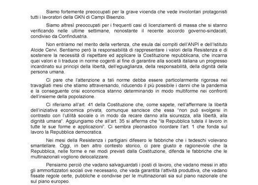 """L'ANPI e l'Istituto Cervi: """"La Repubblica difenda le fabbriche!"""""""