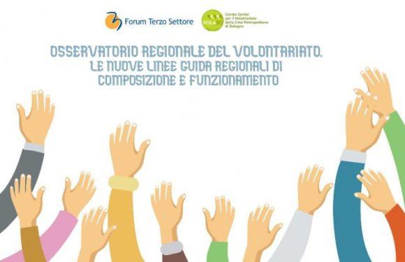 Nuove linee guida per l'osservatorio regionale del volontariato: un incontro online