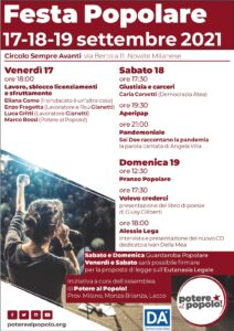 Festa popolare! 17-19 Settembre, Novate Milanese