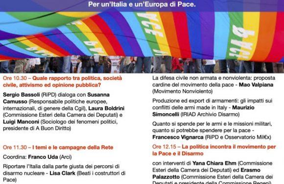 La Rete Pace Disarmo in Assemblea: due giorni di confronto per tracciare il futuro del movimento pacifista