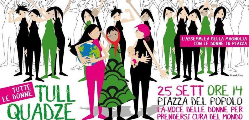 L'adesione del Coordinamento donne ANPI alla manifestazione Tull Quadze – Tutte le donne