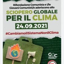 Rifondazione Comunista e i/le Giovani/e Comunisti/e aderiscono allo SCIOPERO GLOBALE PER IL CLIMA perché Giustizia climatica è Giustizia sociale.