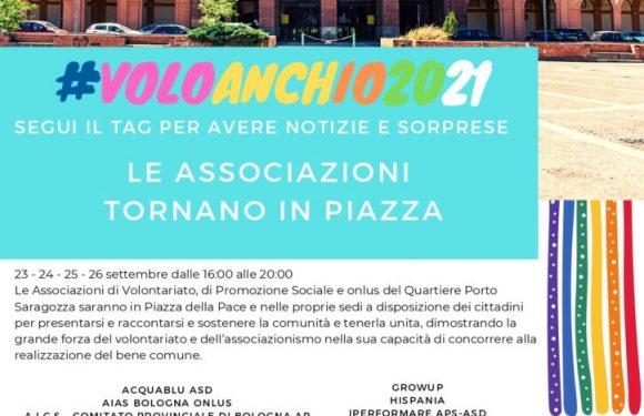 #VOLOANCHIO2021, le associazioni del quartiere Porto Saragozza in piazza per la Festa del volontariato