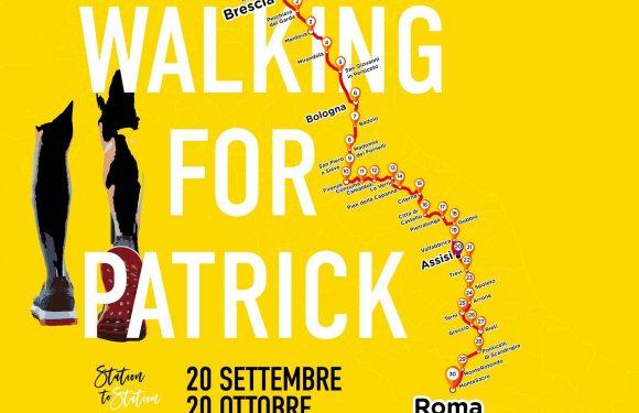 Walking for Patrick, passando per la PerugiAssisi andrà da Brescia fino a Roma